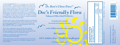 Doc's Friendly Flora Label