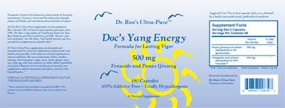 Doc's Yang Energy Label - Click to Enlarge