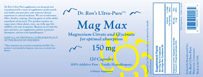 Mag Max - Magnesium Citrate and Glycinate for optimal absorption