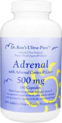 Adrenal, grassfed New Zealand freeze-dried organs & glands, 180 capsules grassfed organs, glands, Spleen, Liver, Heart, Brain, Thymus, Kidney, Pancreas, Adrenal with Cortex, Testicle, Ovary, superfood