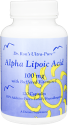 Alpha Lipoic Acid 100 mg, with 210 mg Buffered Vitamin C, 120 capsules Alpha Lipoic Acid, ALA, universal antioxidant, free radicals, macular degeneration, healthy liver