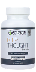 Deep Thought:  The Mental Clarity Formula, 60 capsules Mental Clarity, Phospatidyl Serine, Acetyl L-Carnitine, L-Carnitine, Ginkgo Biloba, Vinpocetine, memory, brain, mental performance, memory enhancer, additive-free supplements