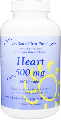 Heart, grassfed New Zealand freeze-dried organs & glands, 180 capsules grassfed organs, glands, Spleen, Liver, Heart, Brain, Thymus, Kidney, Pancreas, Adrenal with Cortex, Testicle, Ovary, superfood