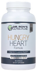Hungry Heart: Nutrients for Circulatory Health, 180 capsules heart support supplement, 100% additive-free supplements, Dr. Rons Ultra-Pure, hawthorne berry, cactus, heart herbs, passion flower, taurine, heart nutrients
