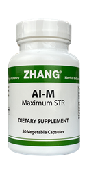 AI-M, 50 capsules  Zhang Chinese herbals, Chinese herbal extracts, Dr. Zhang, Chinese medicine, AI#3 Capsules, Allicin, Artemisiae, Puerarin, AI-M, ai, aim