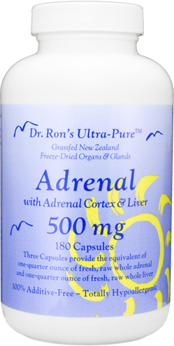 Adrenal, 180 capsules grassfed organs, glands, Spleen, Liver, Heart, Brain, Thymus, Kidney, Pancreas, Adrenal with Cortex, Testicle, Ovary, superfood