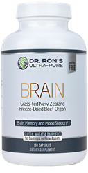 Brain, 180 capsules grassfed organs, glands, Spleen, Liver, Heart, Brain, Thymus, Kidney, Pancreas, Adrenal with Cortex, Testicle, Ovary, superfood