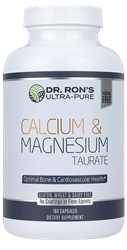 Calcium & Magnesium Taurate, 180 Capsules bone calcium, bone meal, heart support, heart health, calcium, magnesium, taurine, cholecalciferol, calcium 600