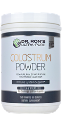 Colostrum Powder, 250 grams Colostrum, raw colostrum, freeze dried colostrum powder, immune support, immune boost, additive-free supplements, Dr. Ron's