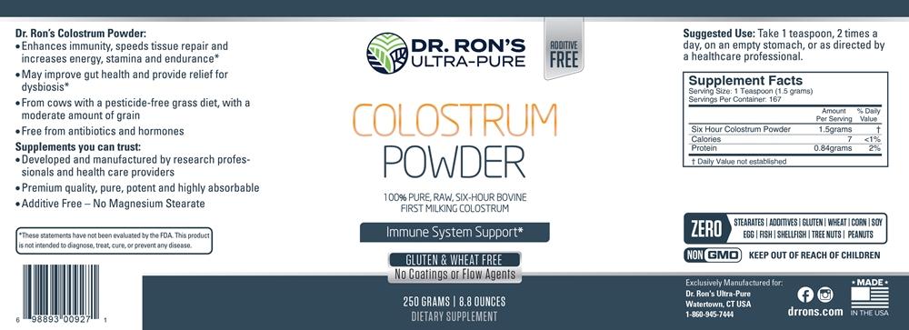Colostrum Powder, 250 grams