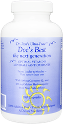 Docs Best:  The Next Generation. Optimal Vitamins, Minerals and Antioxidants, 180 capsules multi vitamin, mineral, antioxidant, 100% additive-free, coenzyme Q10, grape seed extract, calcium, hydroxyapatite, magnesium, trace minerals, microcrystalline hydroxyapatite