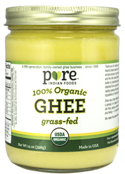 Ghee, 100% Organic, Grass-Fed, 14 oz 100% Organic, Grass-Fed Ghee