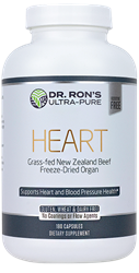 Heart, 180 capsules grassfed organs, glands, Spleen, Liver, Heart, Brain, Thymus, Kidney, Pancreas, Adrenal with Cortex, Testicle, Ovary, superfood