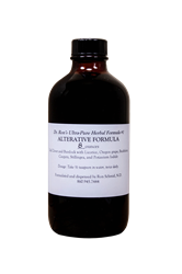 Herbal Formula #1, Alterative, 8 ounces Herbal Formula, Organic Herbs, herbal tinctures, wildcrafted herbs, wildcrafted tinctures, Echinacea, Goldenseal, Skullcap, Oats, Hawthorn, Immune Support, Milk Thistle, Dandelion,Pau dArco