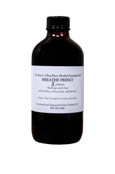 Herbal Formula #10, Breathe Freely, 8 ounces Herbal Formula, Organic Herbs, herbal tinctures, wildcrafted herbs, wildcrafted tinctures, Echinacea, Goldenseal, Skullcap, Oats, Hawthorn, Immune Support, Milk Thistle, Dandelion,Pau dArco