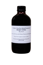 Herbal Formula #16, Heart Tonic, 4 ounces Herbal Formula, Organic Herbs, herbal tinctures, wildcrafted herbs, wildcrafted tinctures, Echinacea, Goldenseal, Skullcap, Oats, Hawthorn, Immune Support, Milk Thistle, Dandelion,Pau dArco