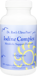 Iodine Complex, 180 capsules iodine, iodide, Lugols, thyroid, thyroid function, low thyroid, iodine complex, metabolic support