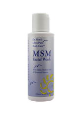 MSM Facial Wash, 4 oz chemical-free body care, chemical free shampoo, non-toxic shampoo, natural body care, chemical-free lotion, non toxic body care