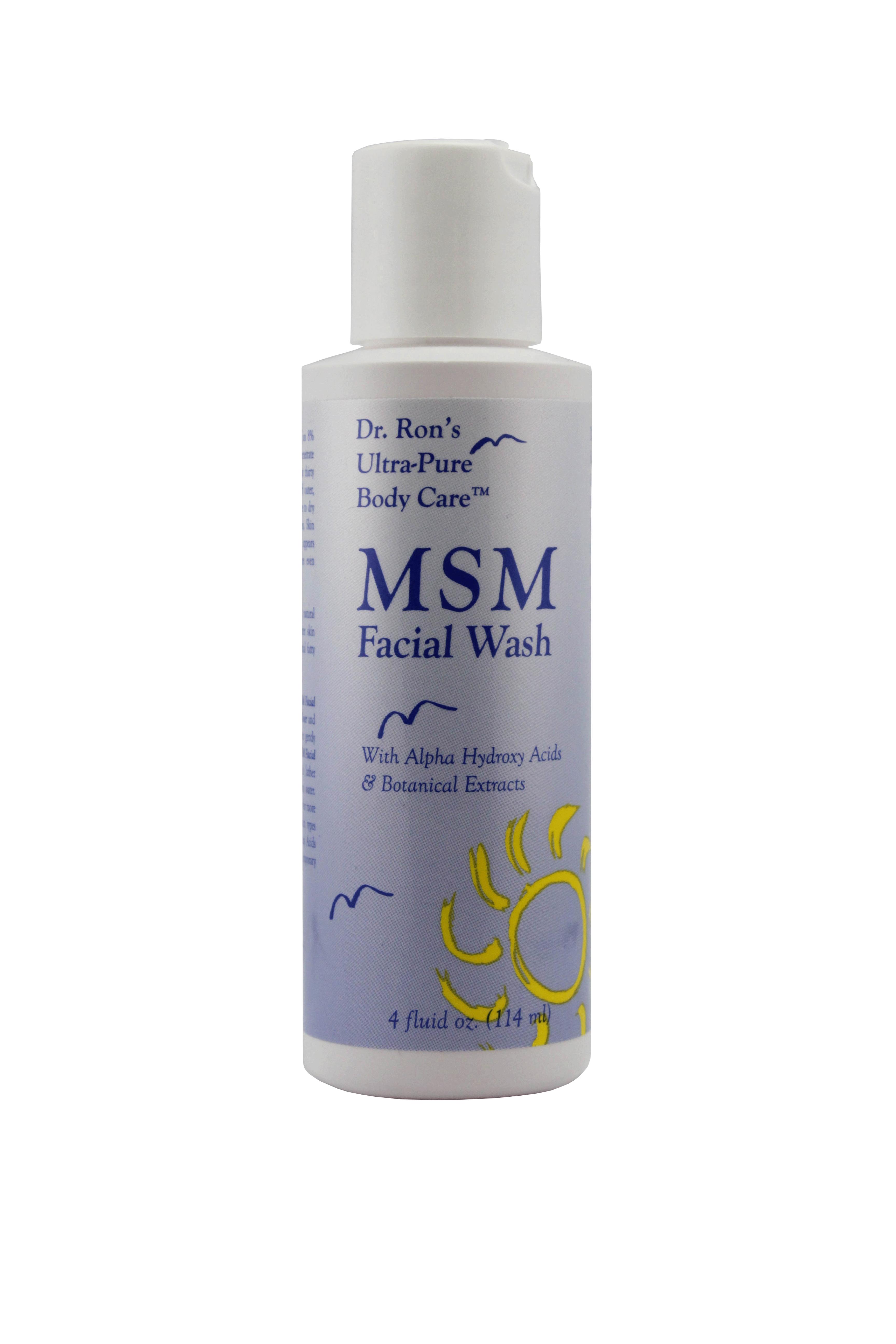 Ultra botanicals wash facial msm w alpha hydroxy acids 4