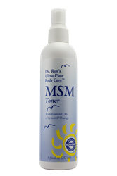 MSM Toner, 8 oz chemical-free body care, chemical free shampoo, non-toxic shampoo, natural body care, chemical-free lotion, non toxic body care