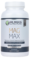 Mag Max, 120 Capsules Magnesium supplement, Mag Max, magnesium citrate, magnesium glycinate, additive-free supplements, Dr. Rons