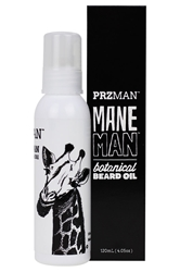 Mane Man Botanical Beard Oil beard conditioner, natural shaving gel, soothing after shave, soap, organic soap, shea butter soap, chemical sensitivity, sensitive skin, mens body care, chemical-free body care