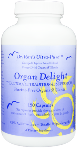 Organ Delight: Porcine Free, grassfed New Zealand freeze-dried organs & glands, 180 capsules grassfed organic organs, organic glands, Liver, Heart, Brain, Thymus, Kidney, Pancreas, Adrenal with Cortex, Testicle, Ovary, superfood