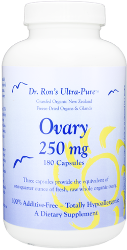 Ovary, grassfed New Zealand freeze-dried organs & glands, 180 capsules grassfed organs, glands, Spleen, Liver, Heart, Brain, Thymus, Kidney, Pancreas, Adrenal with Cortex, Testicle, Ovary, superfood