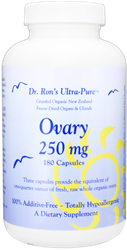 Ovary, 180 capsules grassfed organs, glands, Spleen, Liver, Heart, Brain, Thymus, Kidney, Pancreas, Adrenal with Cortex, Testicle, Ovary, superfood