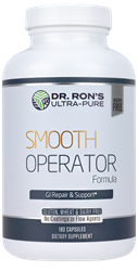 Smooth Operator: for Ailing GI Tracts, 180 capsules digestive aid, GI tract health, gentle digestion, gut permeability, healing digestive tract, healing gut, healing intestines, L-Glutamine, N-Acetyl L-Glucosamine, Quercetin, Ginger Extract, Plantain, Marshmallow, Slippery Elm Bark